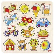 Lift out puzzle, rocking horse, ball, ...