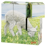 Farm animals, cube puzzle