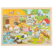 Puzzle, petting zoo
