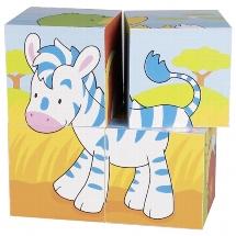 Animals, cube puzzle
