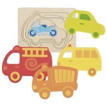 Schichtenpuzzle Fahrzeuge