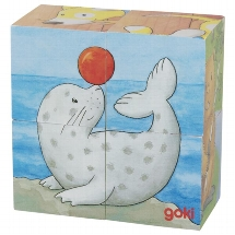Cube puzzle baby animals II