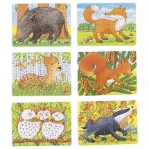 Mini-puzzle forest animals