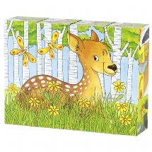 Cube puzzle, forest animals