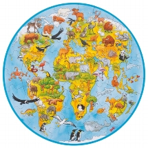 XXL Puzzle Welt