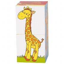 Cube puzzle, animals