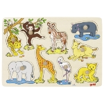 Lift out puzzle, African baby animals