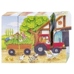 Cube puzzle, seasons on the farm