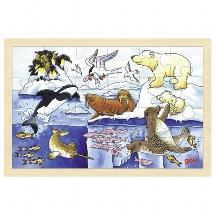 Einlegepuzzle Polartiere