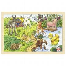 Einlegepuzzle Tierkinder II