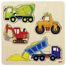 Einlegepuzzle Baufahrzeuge