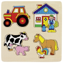 Farm, inlay puzzle