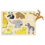 Wild baby animals, lift-out puzzle