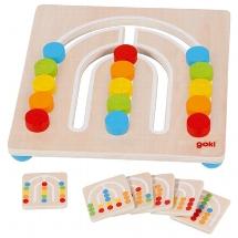 Colour sorting board, rainbow