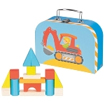 Building blocks in a suitcase
