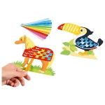 Paper weaving craft kit  - animals