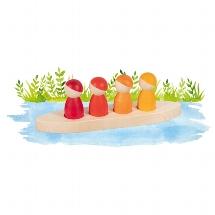 Little men in the boat