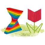 Planchettes multicolores