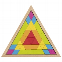 Mosaic puzzle triangle