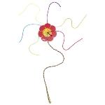 Knitting flower, knitting clover