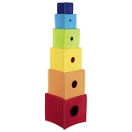 Cubes à empiler Arc-en-ciel