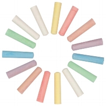 Coloured chalk for street painting,