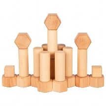 Building blocks refined with walnut oil, goki nature