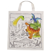 Cotton bag dinosaur