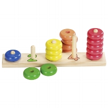 Learn to count with wooden rings