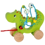 Pull along animal with bead maze dragon