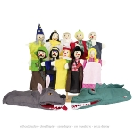 Assortment of handpuppets - Set 1