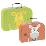Suitcases - giraffe and zebra