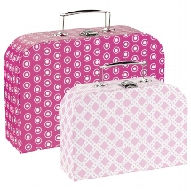 Suitcases - pink patterns