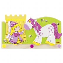 Coat rack, Little princess with unicorn