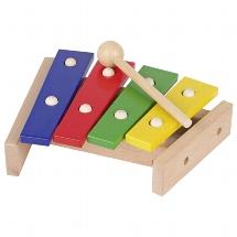 Xylophon mit 4-farbigen Tonplatten