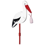 Flower decor stick Stork with baby cloth