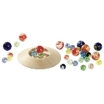 Marble plate game with 31 marbles