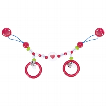 Pram chain heart with clips