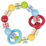 Touch ring Elastic spotted, coloured beads