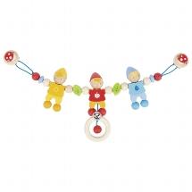 Pram chain dwarf with clips