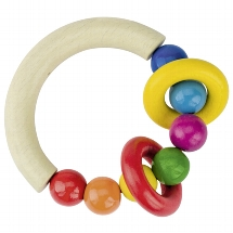 Touch ring half-round with beads and 2 rings