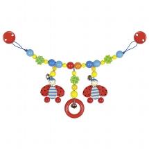 Pram chain ladybird with clips