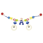 Pram chain pirate with clips