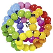 Touch ring elastic rainbow ball