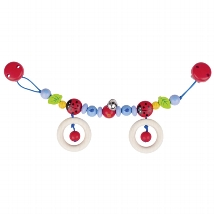 Pram chain ladybird I with clips