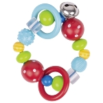 Touch ring elastic red polka dot bead