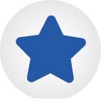 Click bead white with blue star