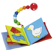 Cloth picture book (squeaker and crinkle foil) with pearls