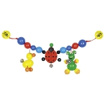 Pram chain duck, ladybird, frog with clips