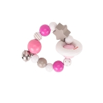 Touch ring elastic pink, grey, white